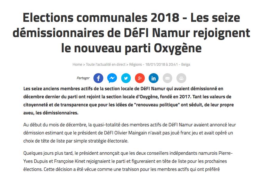 Vers l'Avenir, 18.01.2018