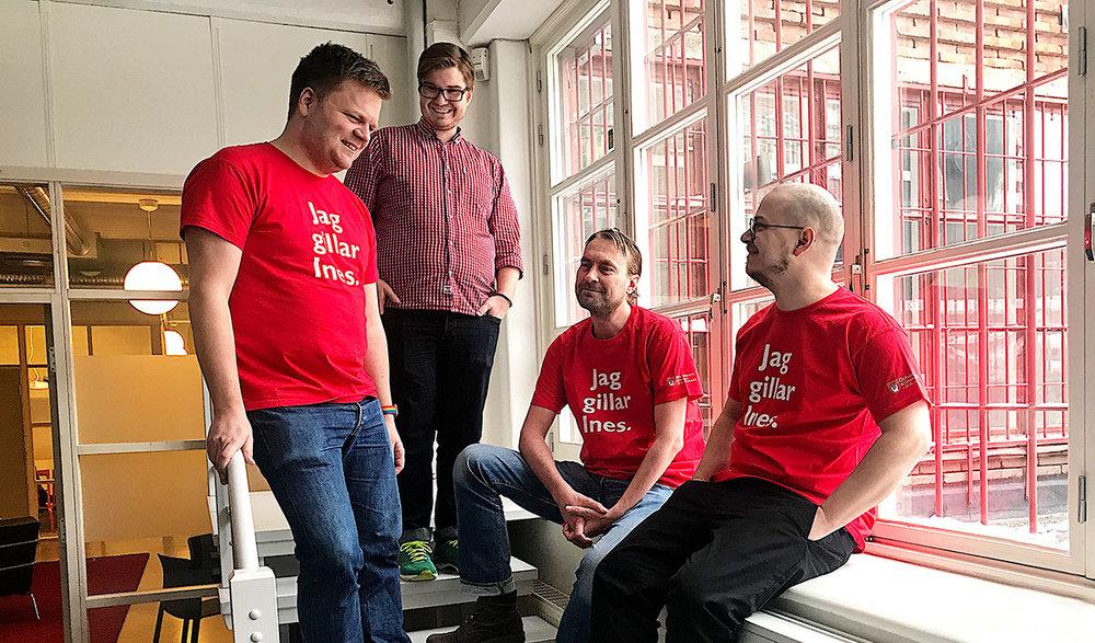 Fr. v: Anders Hedberg Magnusson, Emil Werner, Robert Ericsson, Kristian Lindgren,