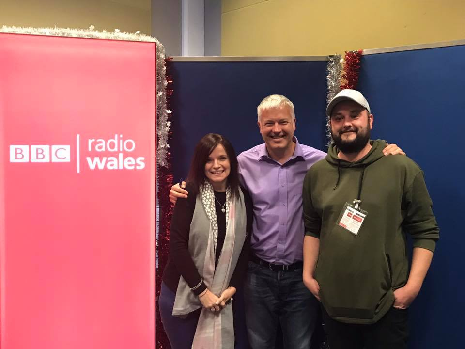 Jonathan an Buffy visited the BBC studios in Cardiff for a chat with Eleri Sion and Derek Brockway.