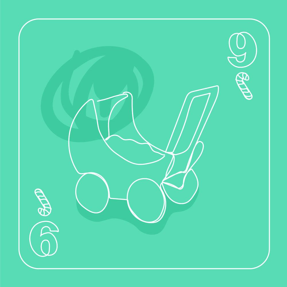 9 strollers strolling
