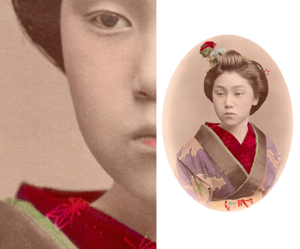 High resolution scans of the original Japanese hand-painted albumen prints
