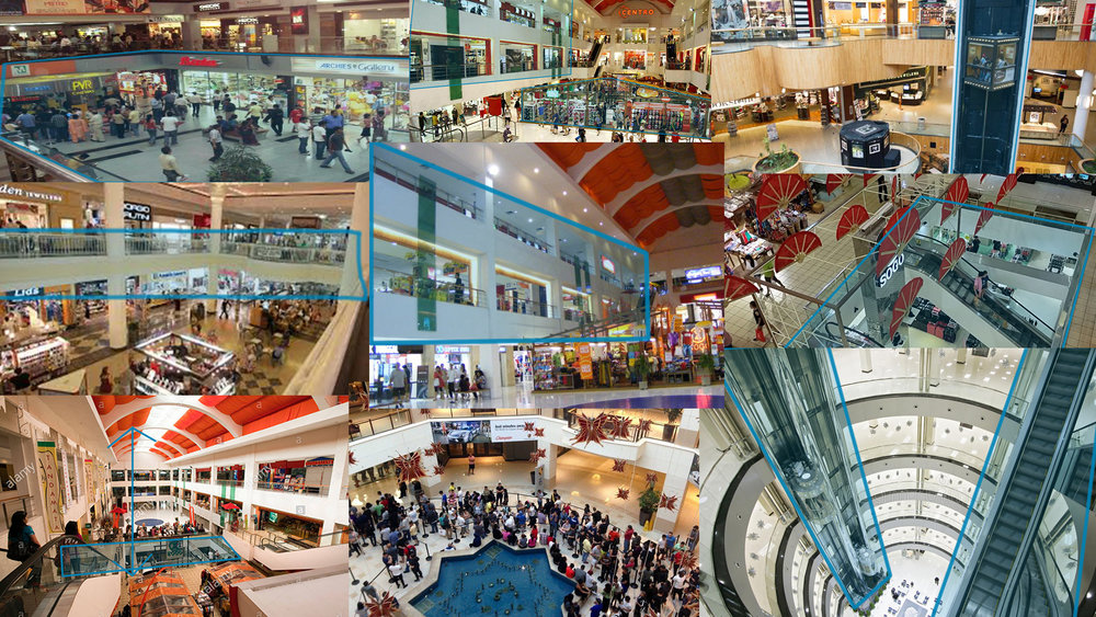 Indonesian malls served as my main inspiration for the mall