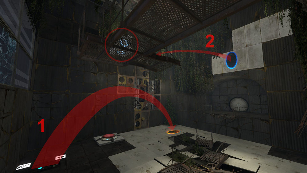 The first room used physics based approach setting the theme for the level