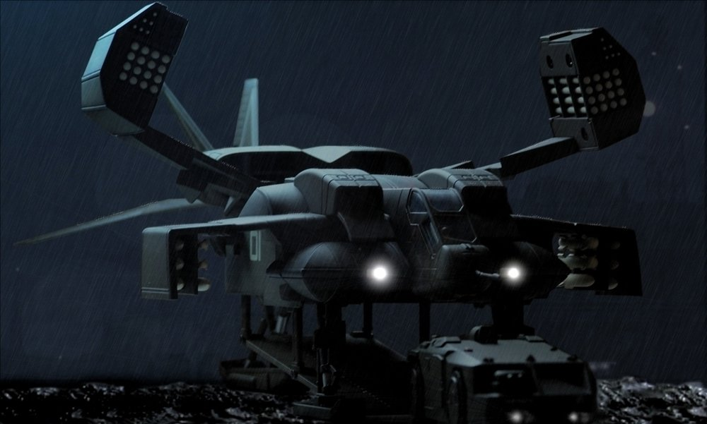 Inspiration for the drop ship was taken form a futuristic movies such as Aliens