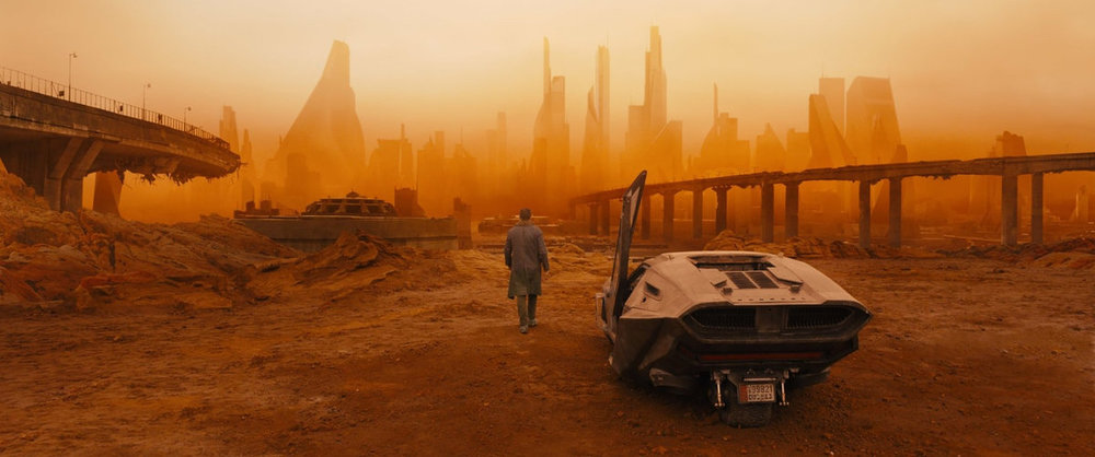 The main inspiration for the scenery was taken from dystopian sci-fi such as Bladerunner 2049