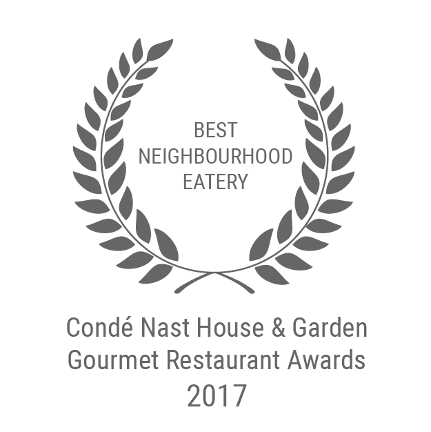 Conde Nast Garden & Home Best Neighbourhood Eatery 2017