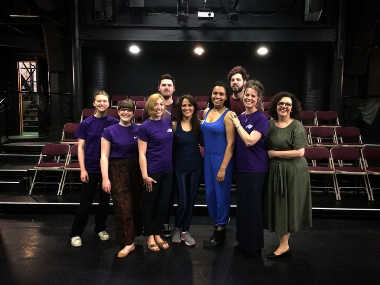 Trestle Patron Nina Conti with Trestle Team