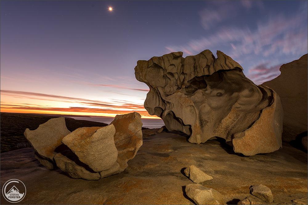 Spiel mit der Taschenlampe - 2min Verschlusszeit vor Sonnenaufgang