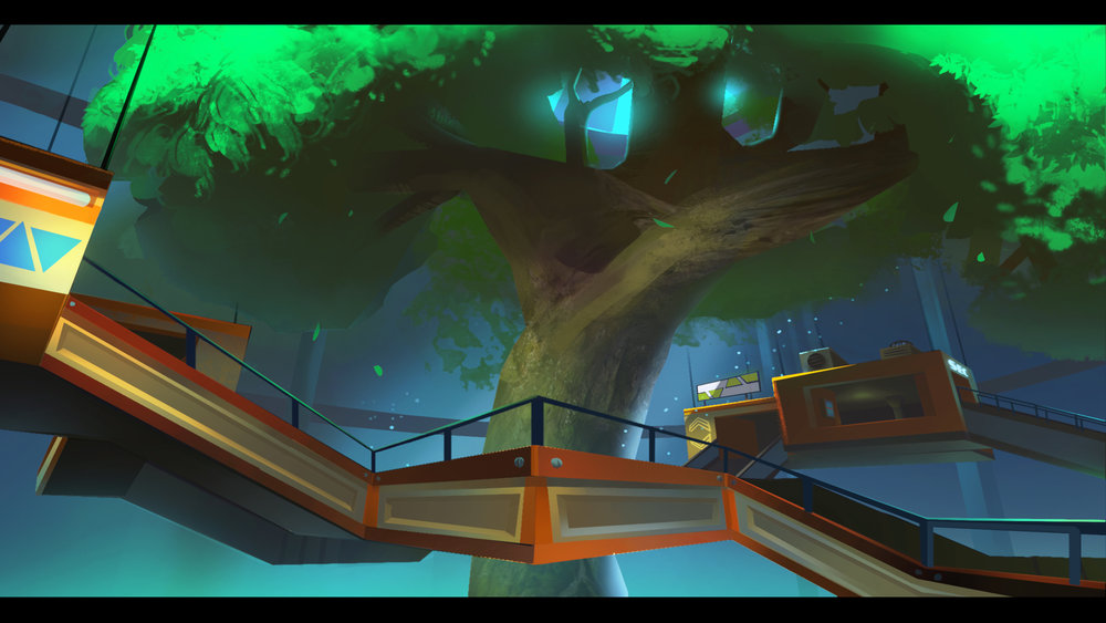 """Concept art of the """"Tree-Dome"""" by Johannes Bengston"""