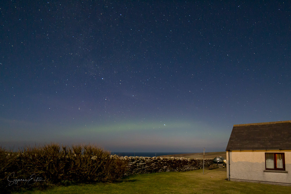 Aurora borealis from Orkney