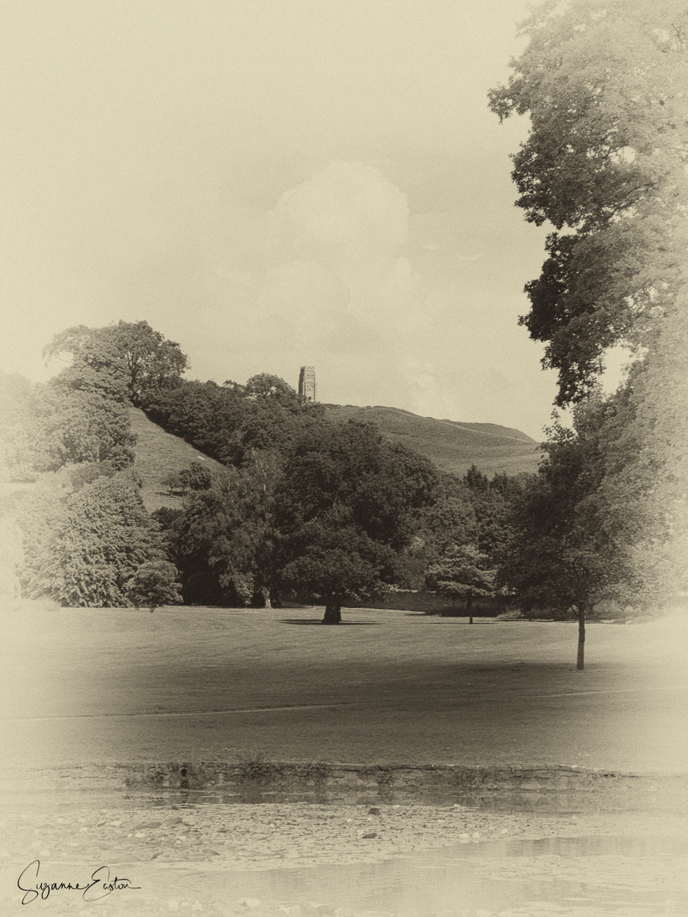 Glastonbury Tor from Glastonbury Abbey