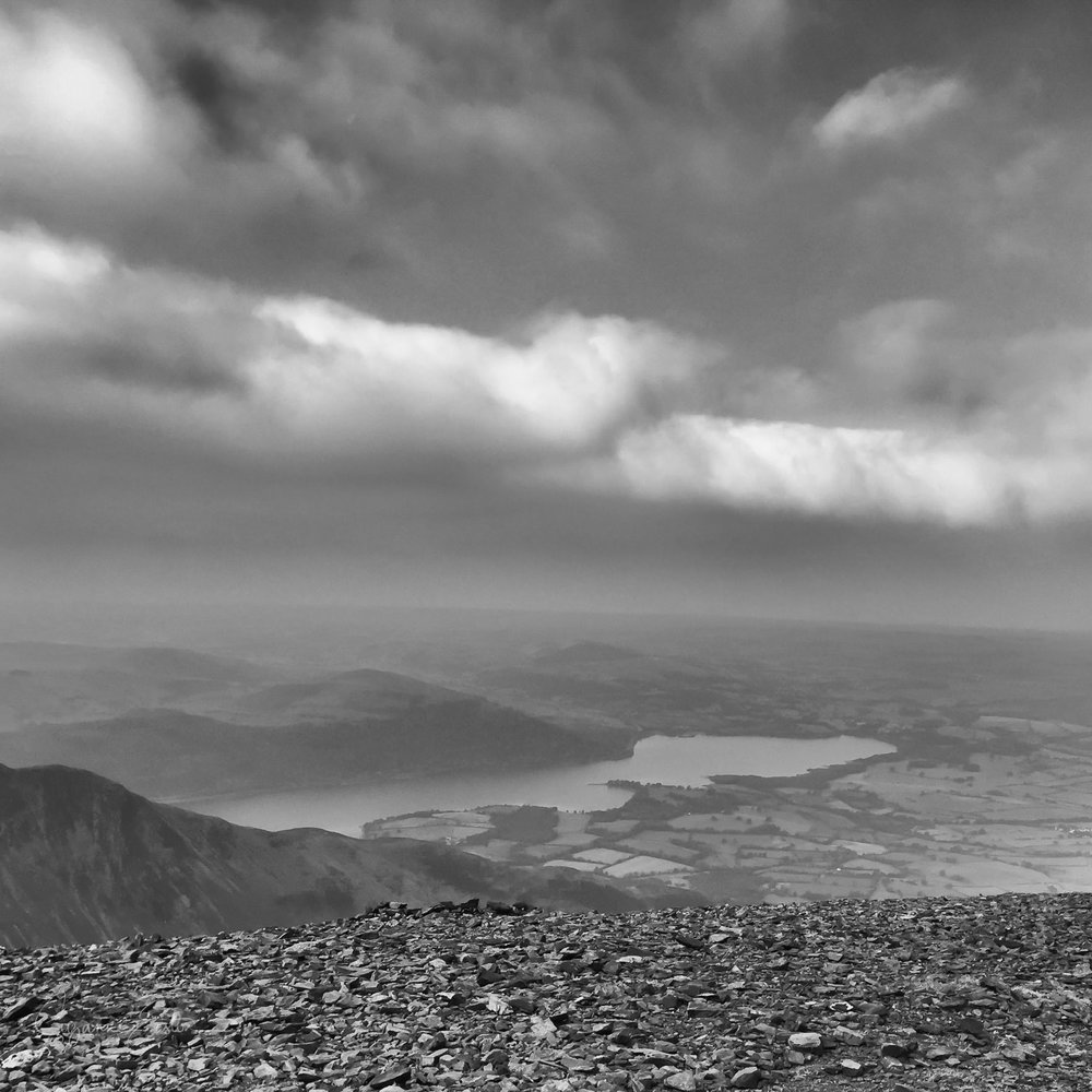 The view from the summit of Skiddaw