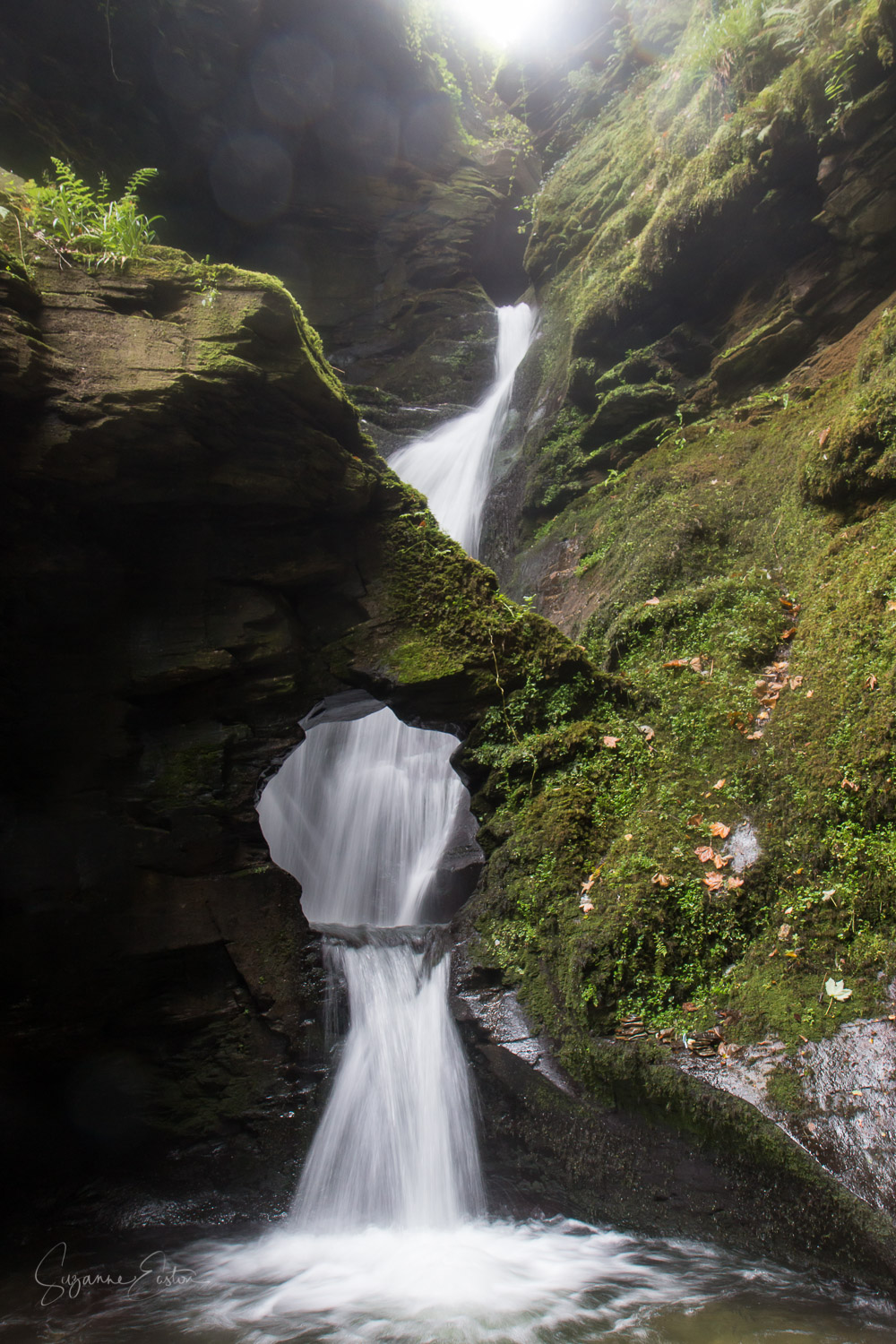 Waterfall at St Nectan's Glen
