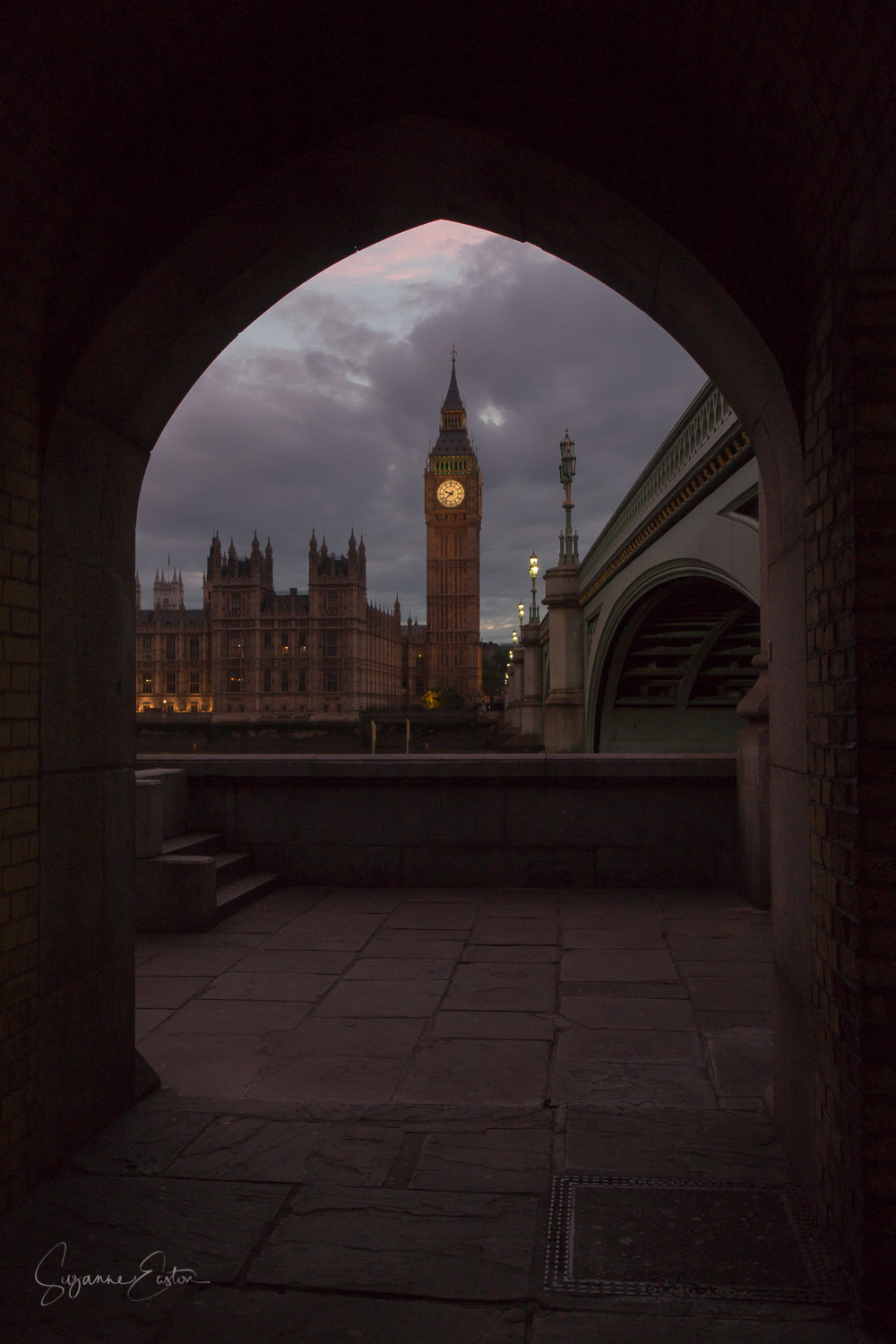 The Palace of Westminster in London from the South Bank.  A UNESCO heritage site and the home of British Parliament