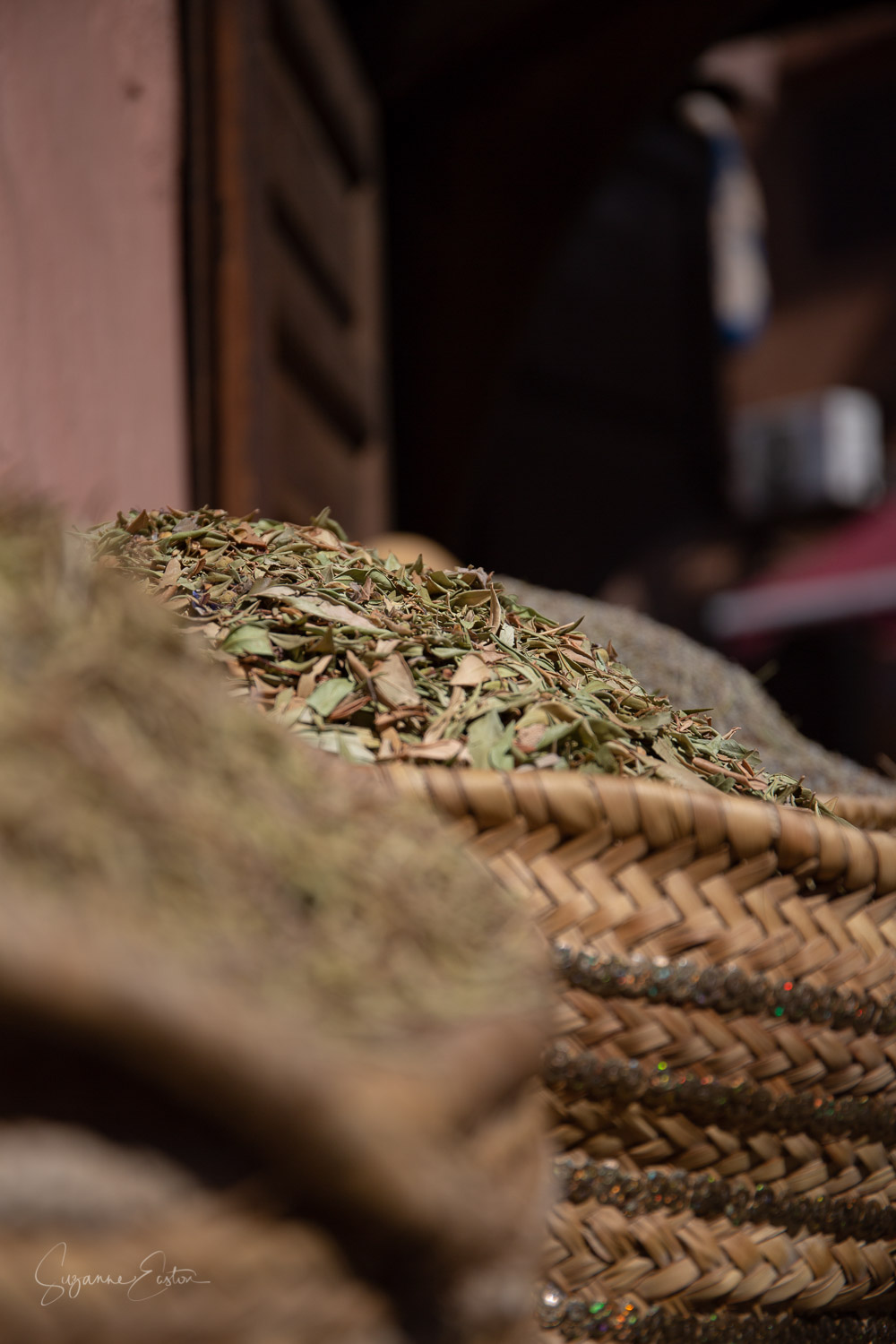 Dried herbs for sale in Marrakech