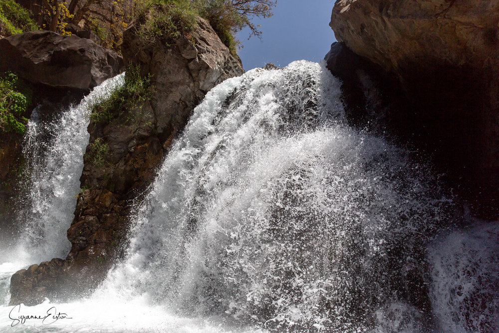 The main waterfall at Imlil near Marrakech