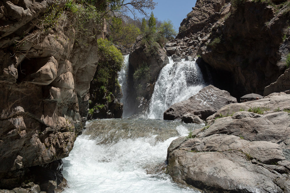 Imlil cascades from the plunge pool