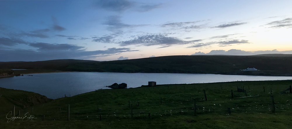The simmer dim on Shetland where the night sky never appears and twilight remains