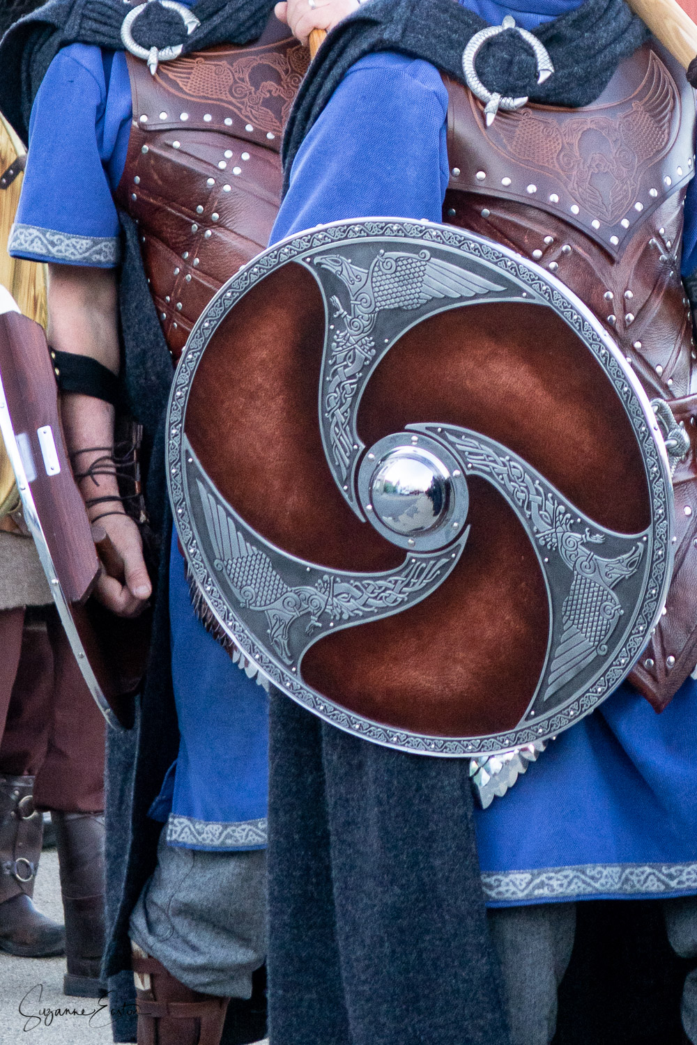 Shields and tunics of Jarl Squad in Lerwick