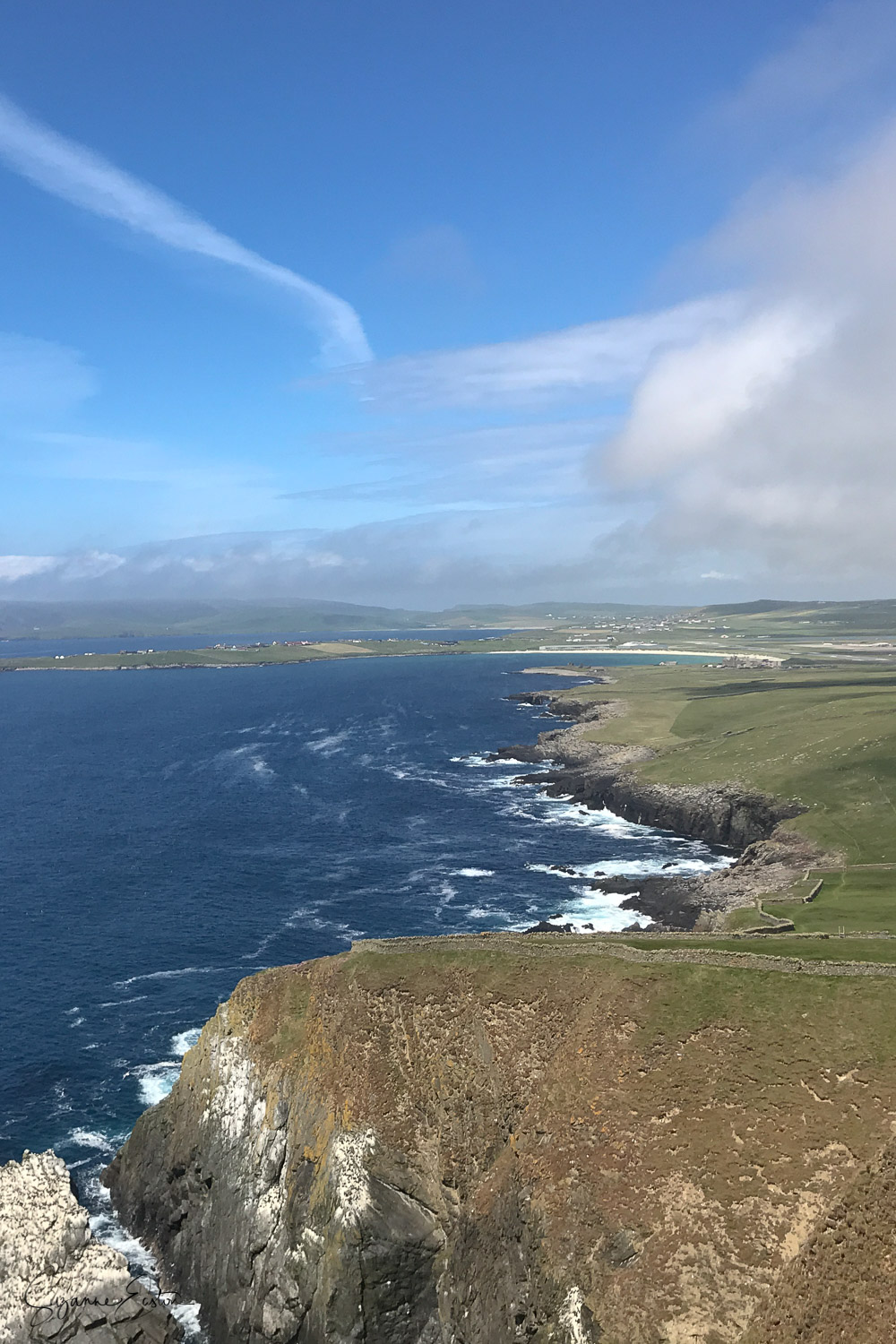 The view from Sumburgh Head looking north