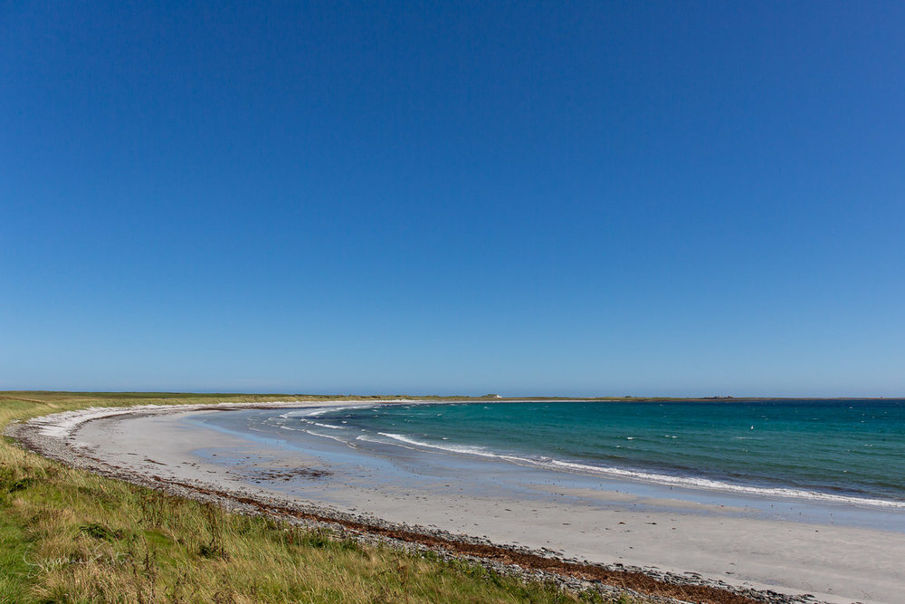 Sty Wick is a vast sandy beach on the Orkney Island of Sanday