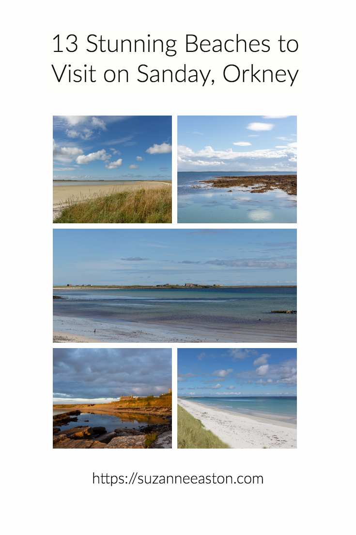 Sanday is an island in the far north of Scotland in the small collection of islands called Orkney. The beaches on this island are all beautiful with sweeping bays and golden sand.