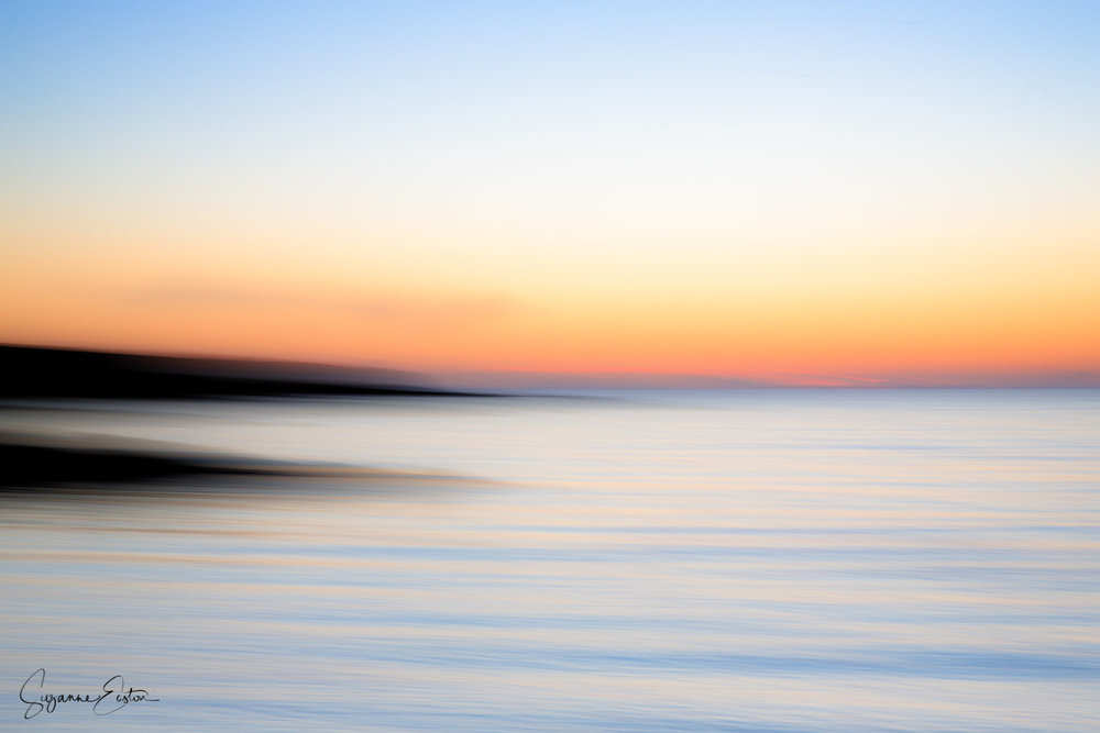 Intentional camera movement at sunset
