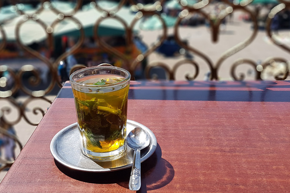 Mint tea is part of Marrakech