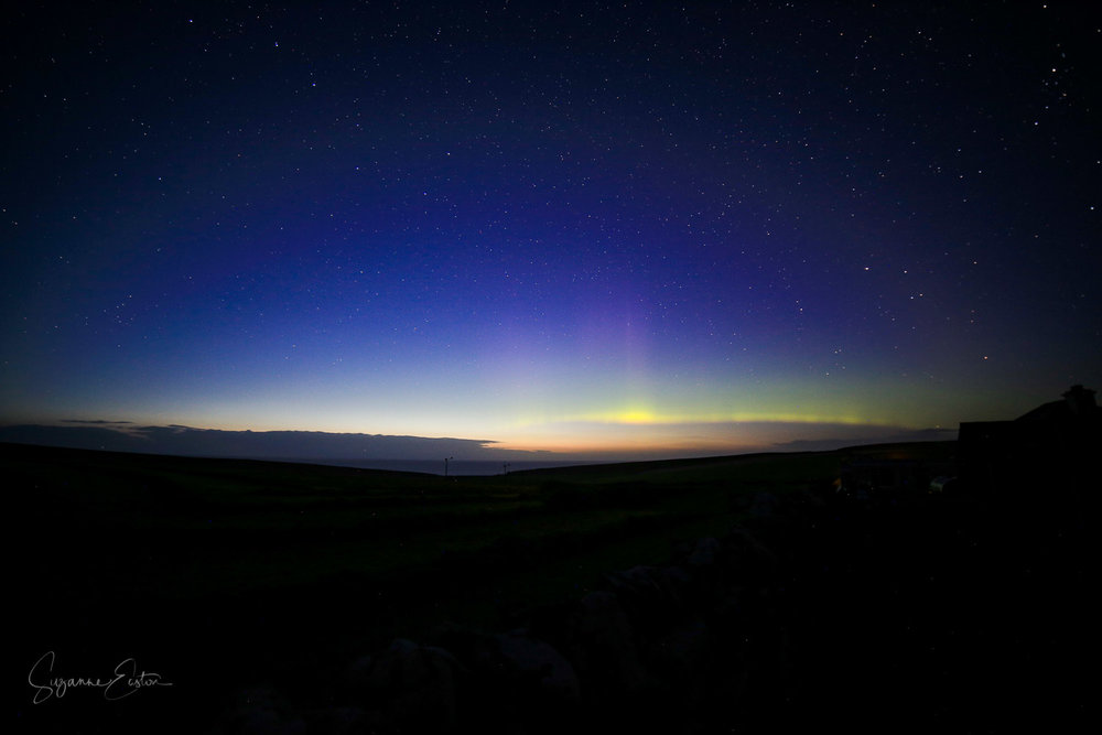 Aurora borealis on Orkney