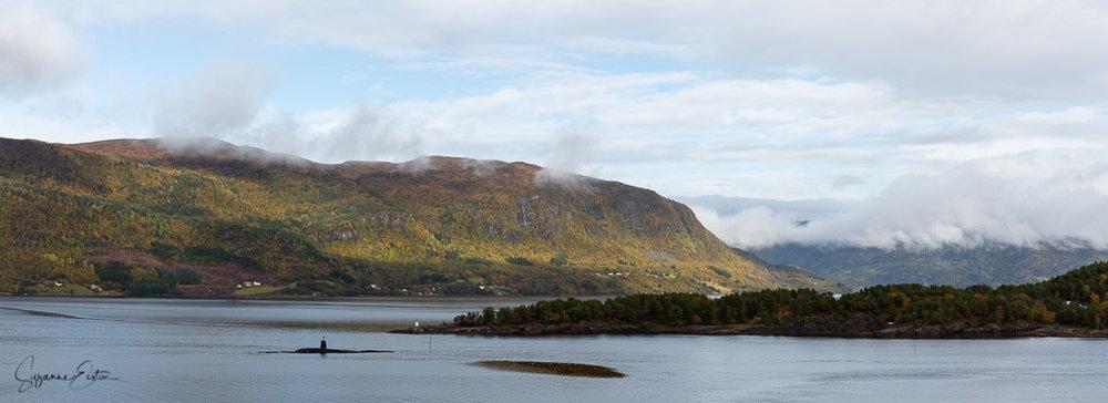 The view over Valsøyfjord from Otnes kirke