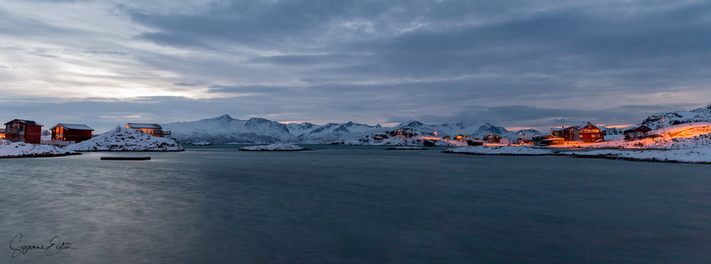 The landscape from Sommarøy Arctic Hotel in Norway