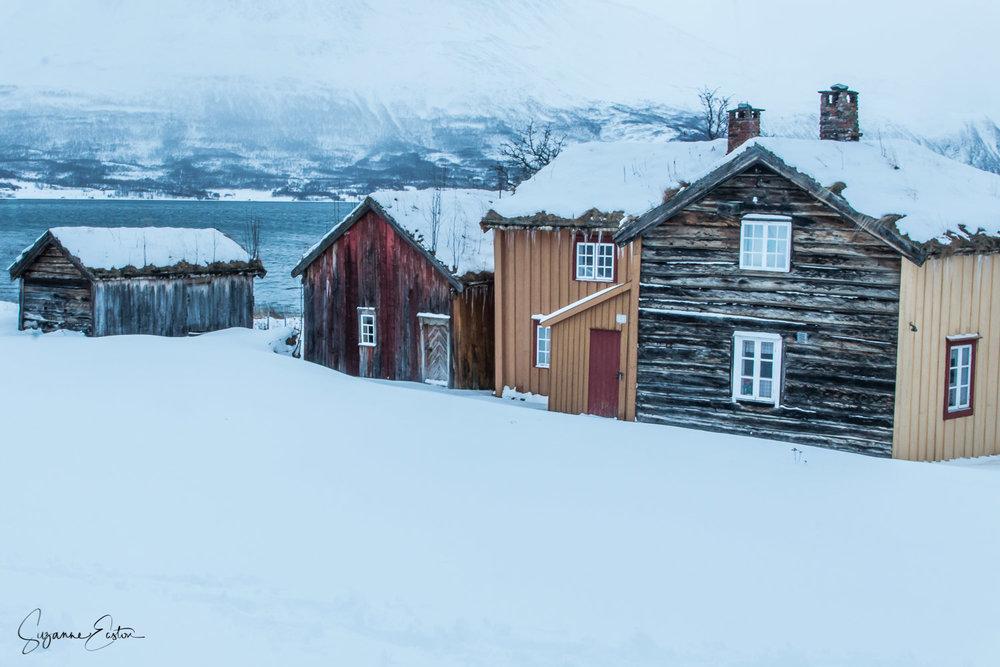 Wooden village in Norway