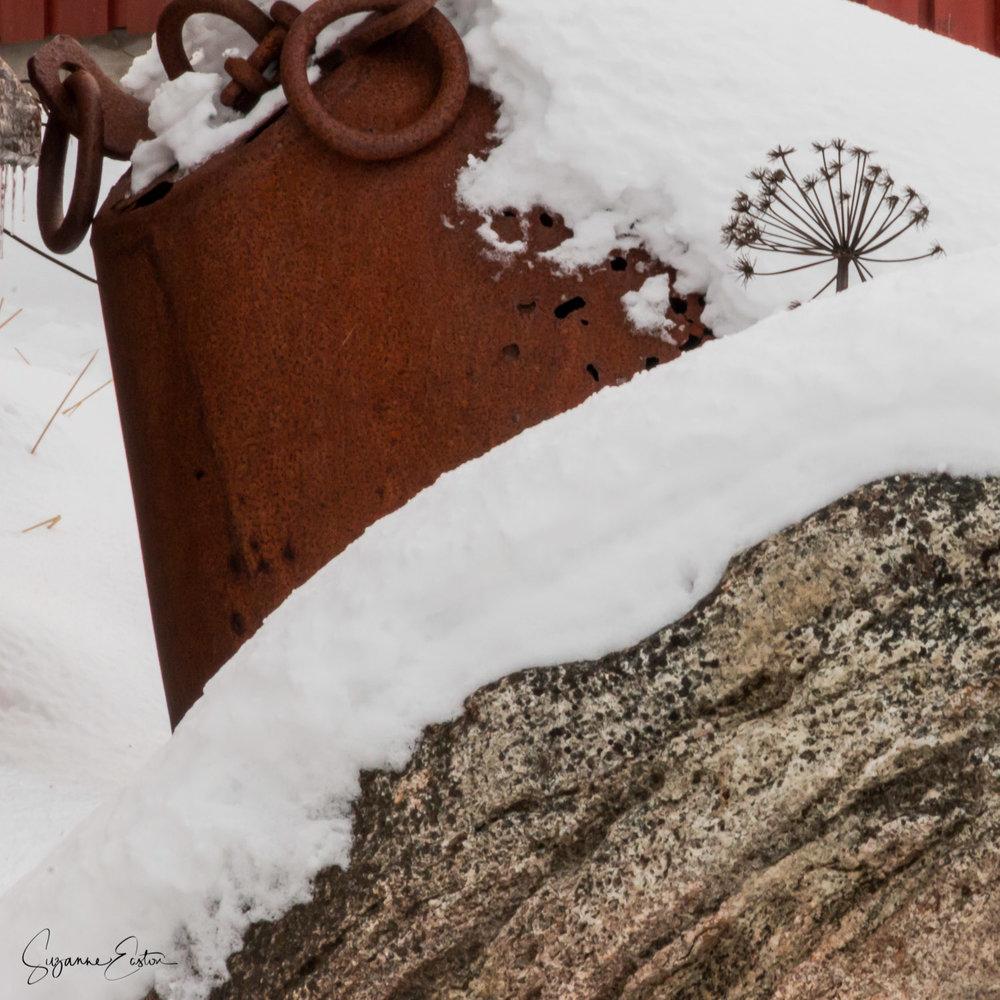 Snow and granite