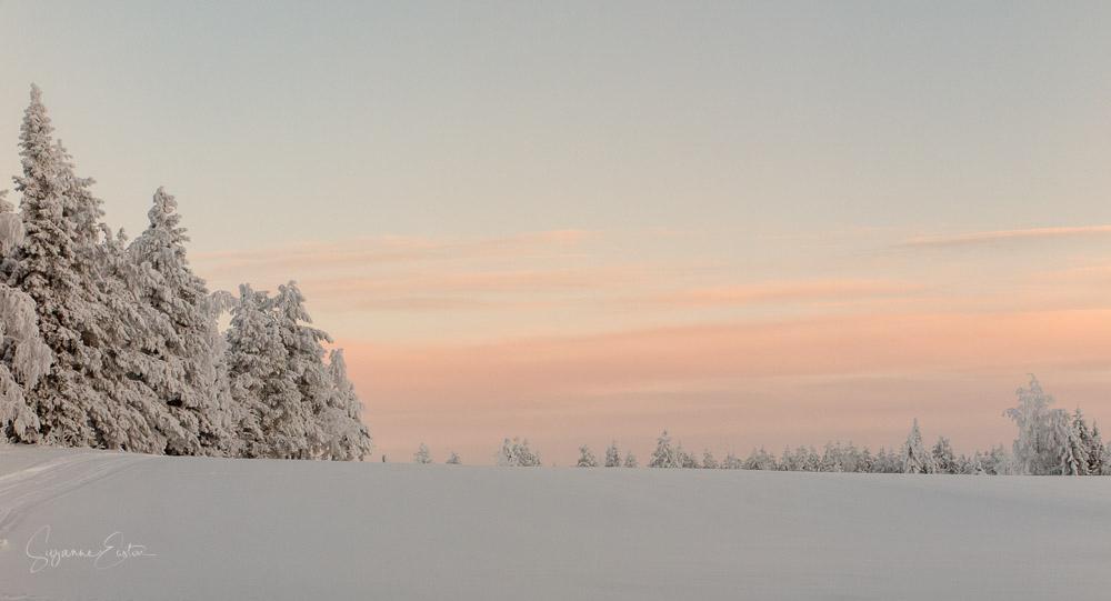 Winter sky in Finland