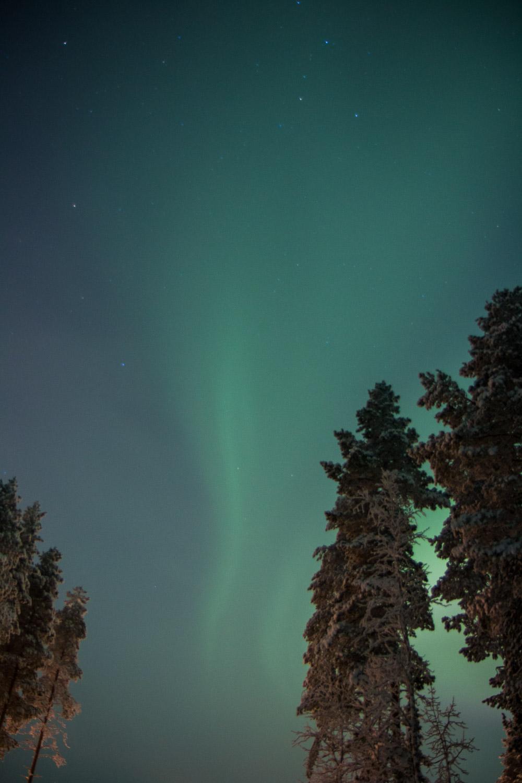 Green aurora borealis