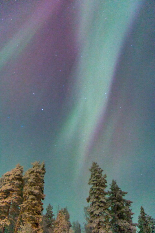 Aurora borealis explosion