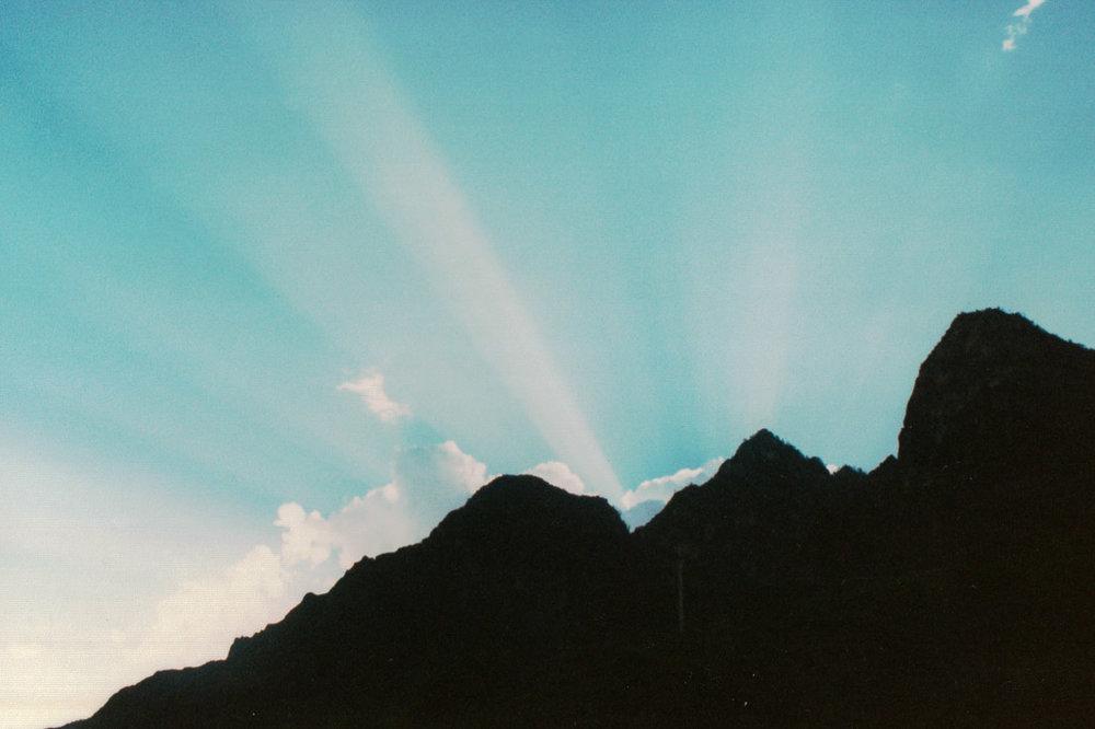 Sunrise over Jade Dragon mountain