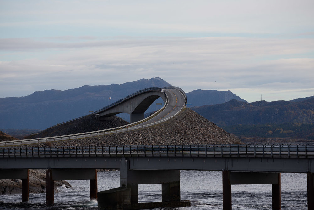 One of the 8 bridges of the Atlantic Road in Norway