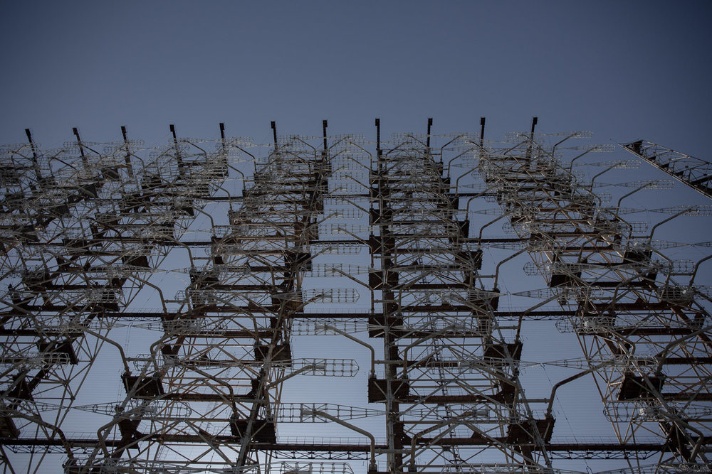 Duga over the horizon radar system near Chernobyl