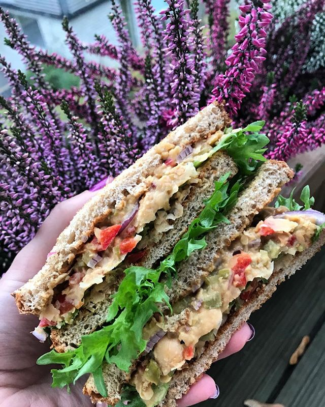 Those chickpea tuna sandwiches I made the other day 😍 Just had to add this picture as well💜 Recipe in my blog, link in BIO 🙈 • • • • • #lifebasedfoods #lifebasedfood #vegan #plantbased #chickpeas #chickpeatuna #veganvibes #whatveganseat #homecooking #autumncolors #healthyvegan #picoftheday #sandwich #veganfamily