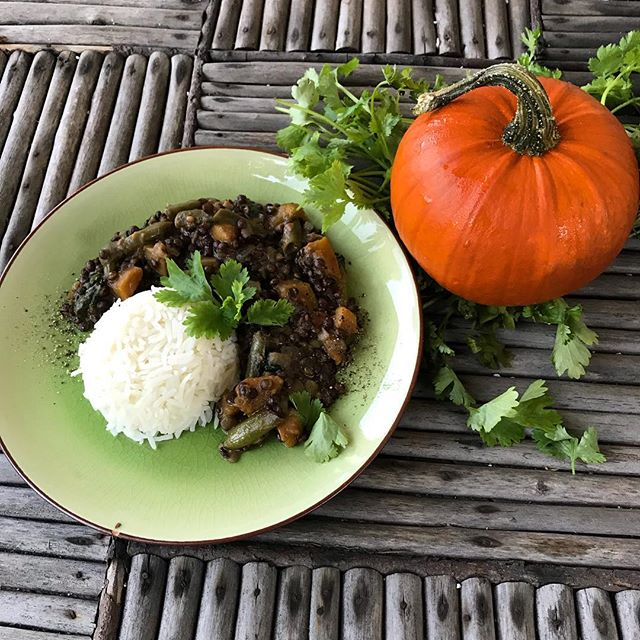 Happy Halloween👻 🎃 I have really been enjoying the pumpkin season😍 Found this picture from a few weeks ago when I experimented with pumpkin and black lentils. I just love pumpkin in currys! Also cooked a pumpkin chickpea curry and a pumpkin pie for tonight🥧 What are your favourite pumpkin dishes? • • • • • #lifebasedfoods #lifebasedfood #vegan #plantbased #halloween #veganhalloween #pumpkin #pumpkincurry #whatveganseat #homecooking #autumn #veganfamily