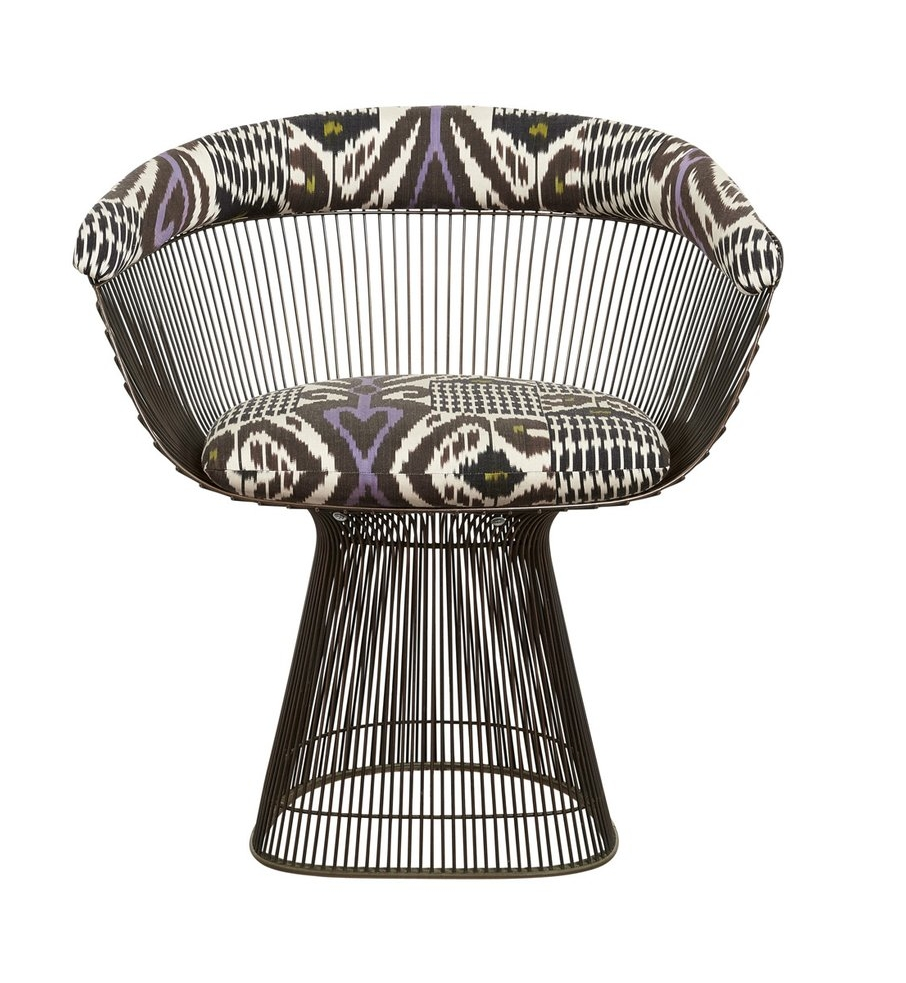 Upholstered Platner chair courtesy of Madeline Weinrib