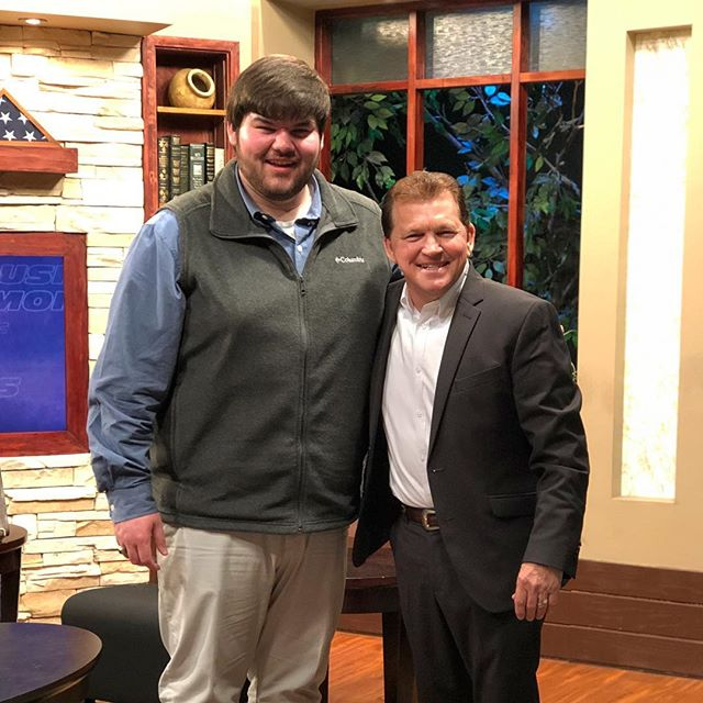 """What a mighty God we serve. It was an honor to be able share a few tunes and worship with Brother George Moore tonight on WGGS TV's """"Nite Line."""" #seekhim #allforhim #gospelmusic #originalmusic"""