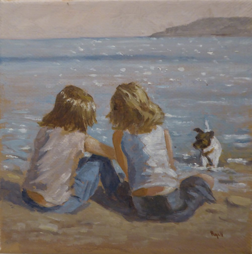 FRIENDS BY THE SEA    6 x 6 inches -  £95