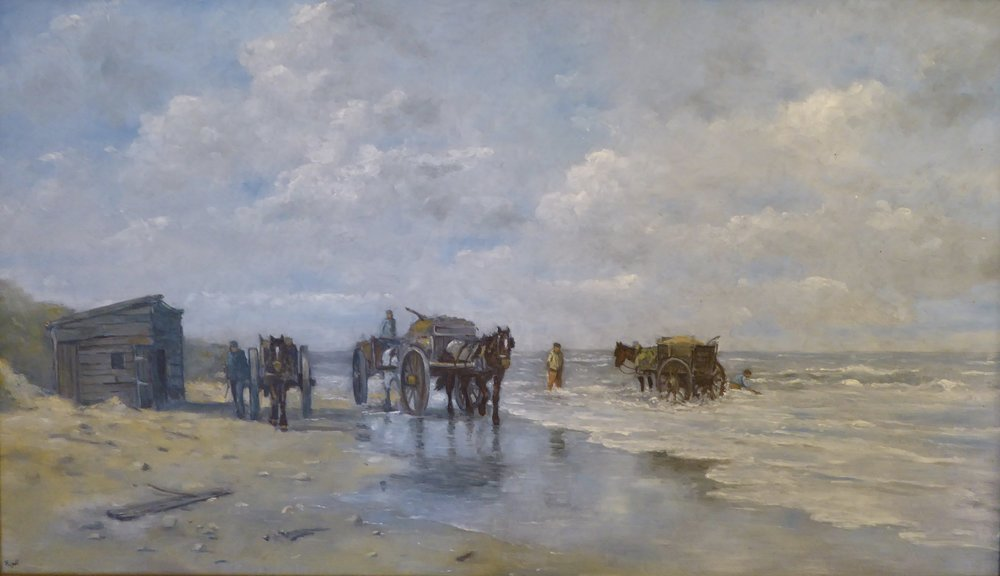 Coastal scene in Holland   14 x 23 inches -  525