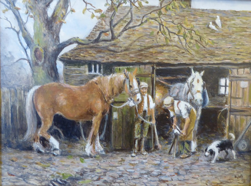 THE SMITHY    6 x 8 inches  £175