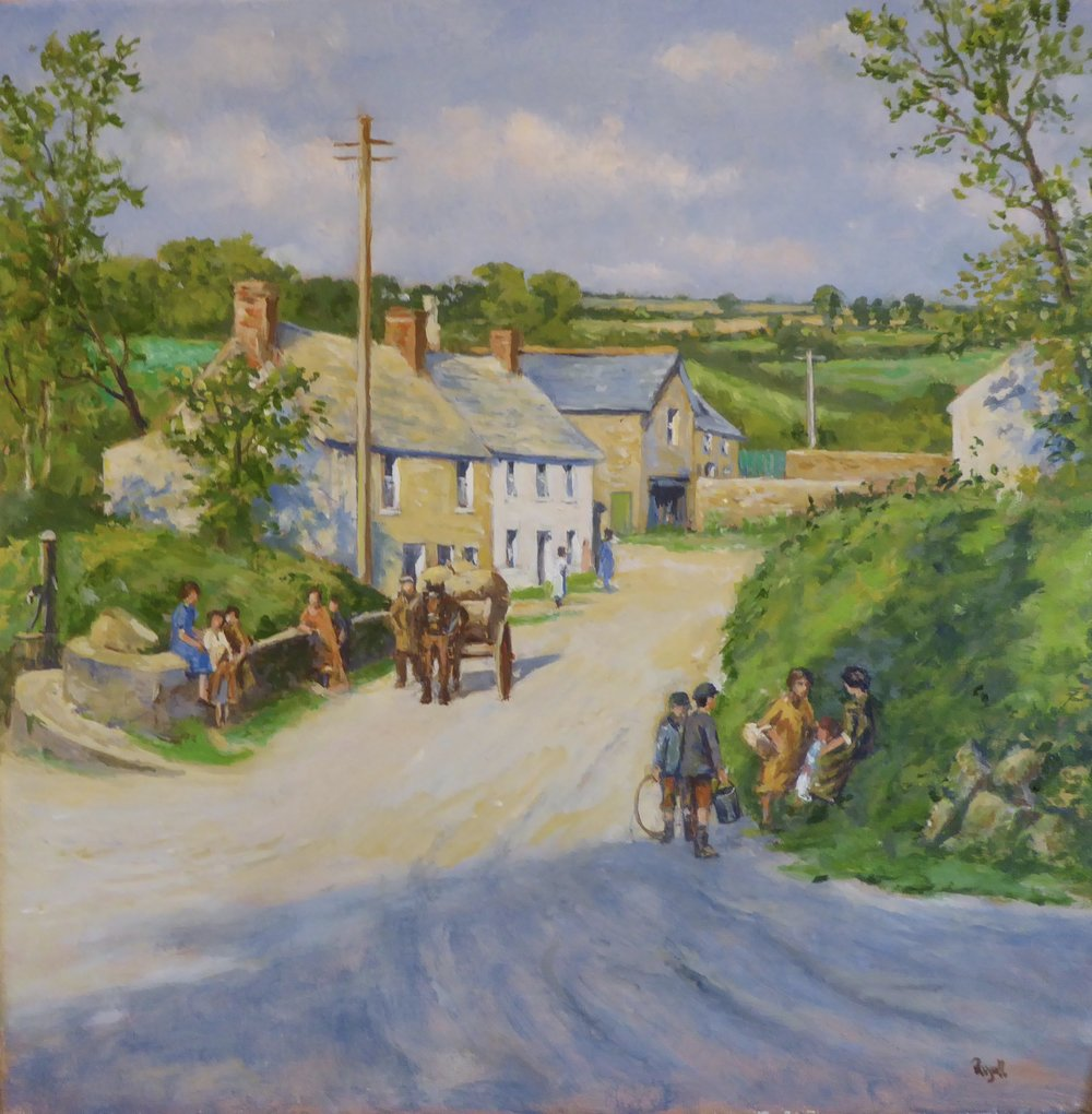 Cornish Village    12 x 12 inches - £250, unframed