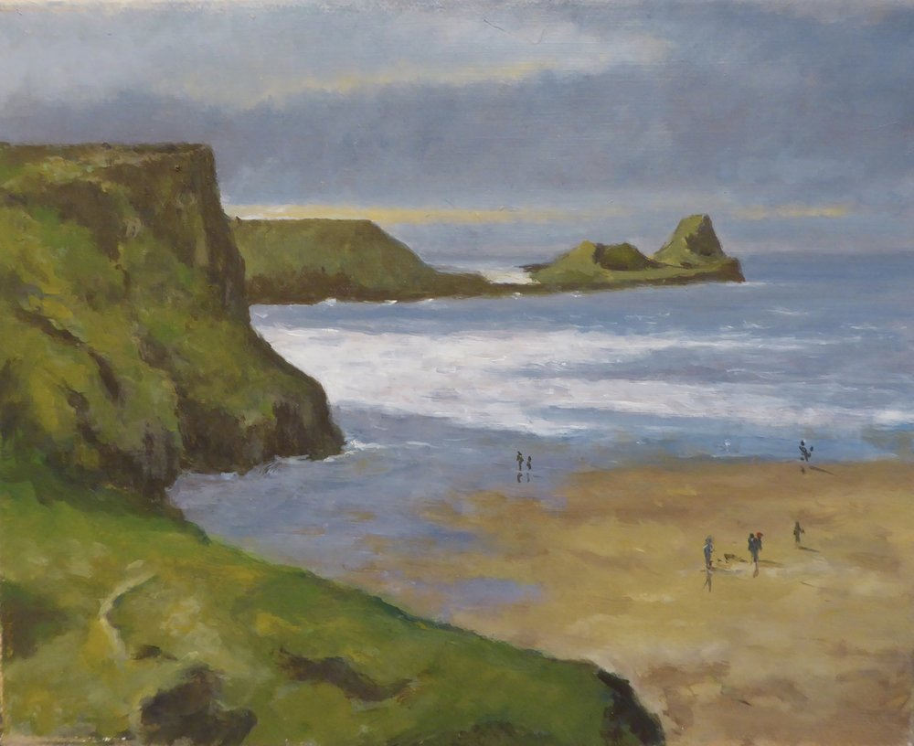 Worms Head, Rhossili    10 x 8 inches -  £150 - unframed