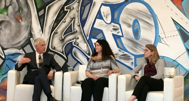 Discussing innovation, DLT/blockchain and the Spiritus in Scotland story with Invest Ottawa's CEO Mike Tremblay and Alison Munro, Scottish Enterprise's Director of Sector Innovation.