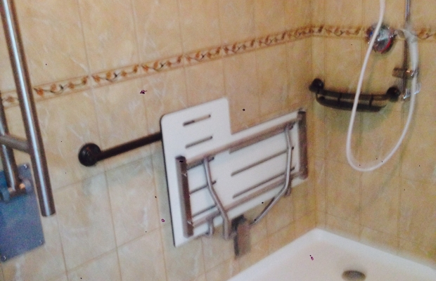 handicapped bathroom finished